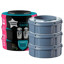 Tommee Tippee Recharges Poubelle à Couches Sangenic Twist & Click x 3