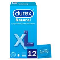 Preservativo Durex Natural Xl Easy On 12 Unidades