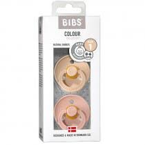 Bibs Chupetes Colour Talla 1 0-6 Meses Vainilla y Rosa 2 Uds