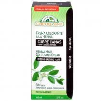 Crema Colorante Henna Cubrecanas Cabello Negro Corpore Sano 60ml