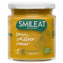Tarrito de Brocoli Cordero y Chirivia Ecologico Smileat 8m 230g