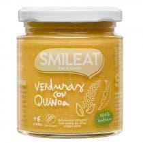 Tarrito de Verduras con Quinoa Ecologico Smileat 6m 230g