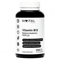 Hivital Vitamina B12 Metilcobalamina 1000mcg 200 Comprimidos