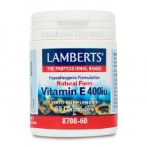 Lamberts Vitamina E Natural 400UI 60 Comprimidos
