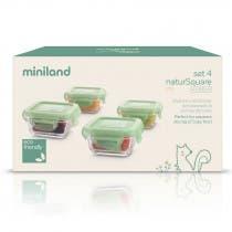 Set 4 Recipientes Vidrio Natursquare Chip Miniland