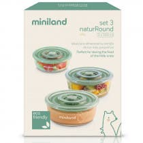 Set 3 Recipientes Vidrio Naturround Chip Miniland