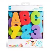 Munchkin Juguete Bano Letras y Numeros 18m
