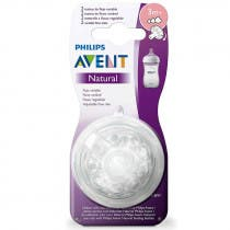 Tetina Avent Natural Philips Flujo Variable  3m 2Uds
