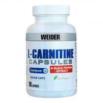 Weider L-Carnitina + Extracto Pimienta Negra 100 Cápsulas