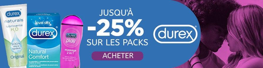 -25% Packs Durex